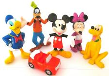 MICKEY MOUSE Figure Set DISNEY CLUBHOUSE PVC TOY Cake Topper MINNIE Pluto GOOFY!