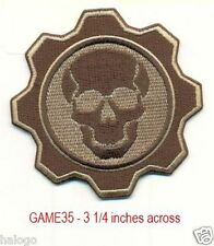 DESERT CAMO SKULL AND GEAR  PATCH - GAME35