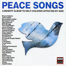 PEACE SONGS .. A Benefit Album to Help Children Affected by War .. 2 CD Set 2003