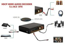 HDMI Audio Extractor Digital to Analog L/R RCA or Optical Converter De-Embedder