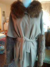 Byte bt Giuliana Teso cashmere fur Hooded coat in camel color 40 italian