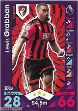 2016 / 2017 EPL Match Attax Base Card (14) Lewis GRABBAN AFC Bournemouth