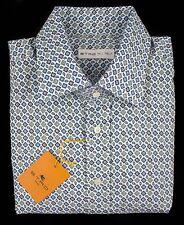 New ETRO Milano Multi-Color Paisley Cotton Button Down Shirt 15.75 40 M NWT $425
