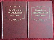 Ellen G White Book Duo: Gospel Workers ~ Counsels on Stewardship SDA Hardcovers