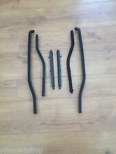 LAMBRETTA GP BLACK REAR FLOOR RUNNER STRIPS. PLASTIC. NEW