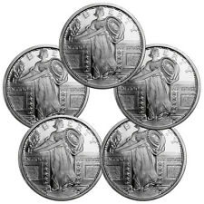 1 Troy oz. .999 Silver Standing Liberty Design Round - Lot of 5 Rounds SKU31527