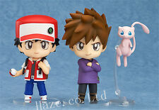 Pokemon Pocket Monsters Ash Ketchum Gary Oak Mew Nendoroid PVC Figure Toy 4''