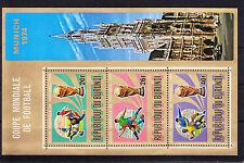Burundi Block 78A mit 1066-1068 ** postfrisch, Fussball WM 1974, MNH -RC198