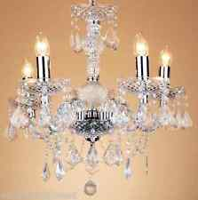 Loxton Lighting Clear & Chrome 5 Light Chandelier