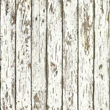 White Faux Weathered Wood Brewster Easy Walls Wallpaper FFR13281 / KBE13281