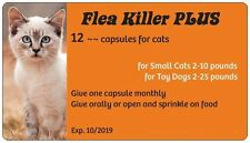 Flea Control with Orange Flea Killer PLUS for Cats 2-10 lbs. 12 Monthly Capsules