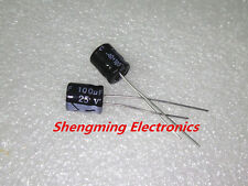 100pcs 100uF 25V Electrolytic Capacitor 25V 100UF 6x7mm