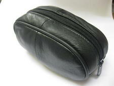 SOFT LEATHER WALLET PURSE HOLDALL MAKE UP COSMETICS ZIPPED TOP SUNGLASSES NEW