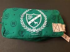 RARE VICTORIA SECRET PINK CANVAS MAKEUP COSMETIC BAG GREEN MINT COLOR IPOD CASE