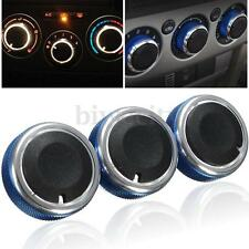 3Pcs Blue Air Condition Panel Control Konb Buttons for Ford Focus 05-14 MONDEO