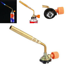 New Camping Welding Gas Brass Torch Blowtorch Flame Gun Fit Cheap Butane Can