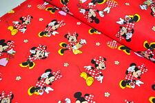 DISNEY Mickey MOUSE MINNIE USA TESSUTO DESIGN 0,5 m Mouse FUMETTI RARI BW C
