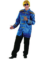 60s 70s Sergeant Pepper Fancy Dress Sgt Blue Jacket Beatles Pop Star Fab 4 New