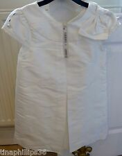 NEXT Signature Ivory Silk Dress Age 6 or 8 RRP £47 Wedding,Christening,Party etc