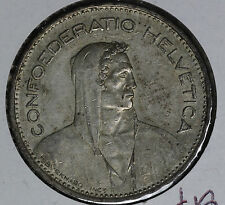 Nice 1939B 5 Francs Switzerland Silver Coin