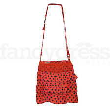 Spanish Flamenco Bag Red Black Beautiful Traditional Fringe Dotty Spotty  NEW