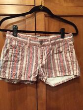 Isabel Marant Etoile SZ  FR 36/US 4 Pink/Red CHARLY Striped Shorts  w Pockets
