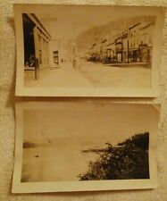 Vintage Antique Black White Photographs Cordova, Alaska Main Street Dock