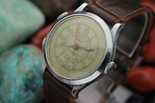 Vintage SARO Stopwatch Chronograph 1 Jewel Hand Wind Sport Watch