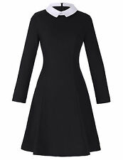 WOMEN CLASSY VINTAGE 1950's LONG SLEEVE PINUP SWING COCKTAIL PARTY EVENING DRESS