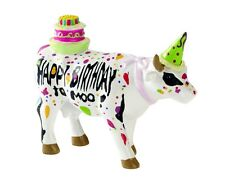 Cow Parade Small Figurine Happy Birthday To Moo Collectable Cowparade UK Gift