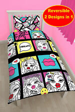 NEW BRATZ 'HASHTAG' SINGLE DUVET QUILT COVER BEDDING SET - GIRLS BEDROOM KIDS