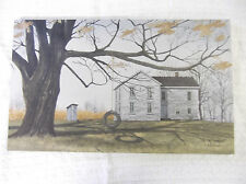 The Old Farmhouse Canvas BEAUTIFUL Farm Country House OUTHOUSE Tree Tire Swing