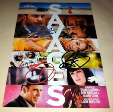 "SAVAGES CASTX3 PP SIGNED 12""X8"" POSTER TAYLOR KITSCH BLAKE LIVELY"