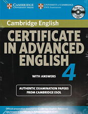 Cambridge CERTIFICATE IN ADVANCED ENGLISH 4 CAE w Answers & Audio CDs @NEW@