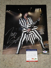 "WOW! NIKKI SIXX ""MOTLEY CRUE"" SIGNED 11X14 PHOTO psa/dna 3 sixx am"
