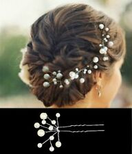 1 Hairpin with 11 Beads Fecher Wedding Tiara Diadem IVORY Bridal