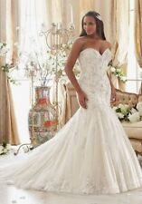 """Mori Lee Bridal 3205 Ivory/Gold size 22 58"""" Hollow to Hem Plus Size Wedding Gown"""