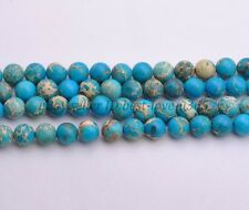 Color Pick Round Sea Sediment Jasper Gemstone Loose Beads 4MM 6MM 8MM 10MM 12MM