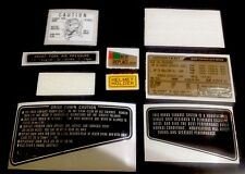 "HONDA CB900F BOL D'OR 1981-1982 BLACK MODEL ""WARNING KIT DECALS"""