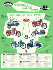 Jawa & Prior motorcycle, scooter, moped poster. Reproduced the original brochure