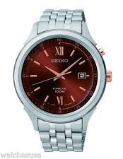 Seiko Kinetic Men's Brown Dial Stainless Steel Kinetic Watch SKA661