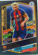Match Attax 2016/17 Lionel Messi LESG limited Edition Champions League gold 17
