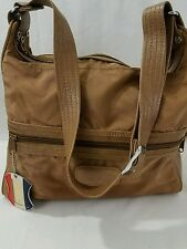 American Tourister Long Duffle Bag Travel Carry On Luggage Tan Vintage