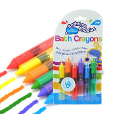 Pack of 6 Bathtime Kids Baby Bath Crayons Fun Toys Non Toxic Crayoning Pen