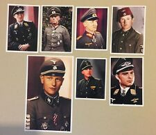 ww2 german lot 7 COLOR PHOTO uniform insignia officer solider cap hat medal rank