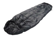 Army Style Black COMMANDO SLEEPING BAG - Lightweight Military Camping Kit