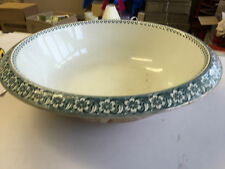 VINTAGE LARGE POTTERY BOWL MARKED HAGUE PRE1960`S
