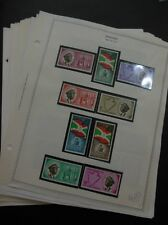 BURUNDI : Beautiful all VF MNH collection on pages between 1962-67. Cat $571.