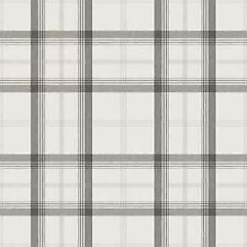 NEW CAMBRIDGE PLAID WALLPAPER -BLACK & SILVER - FD40535  FINE DECOR CHECK TARTAN
