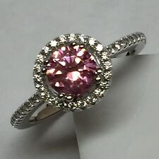 Beautiful 1ct Pink Sapphire White Sapphire 925 Solid Sterling Silver Ring 7